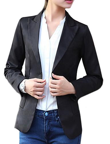 Kadın's Pamuklu Solid Çalışma Blazer