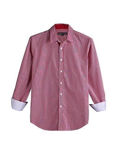 JamesEarl 남성 셔츠 카라 긴 소매 셔츠 & 블라우스 실버 - DA112046201