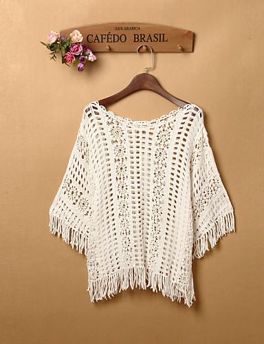 čvrste pulover, casual / dan / plaža butik g ženske bijelo? dužina rukava