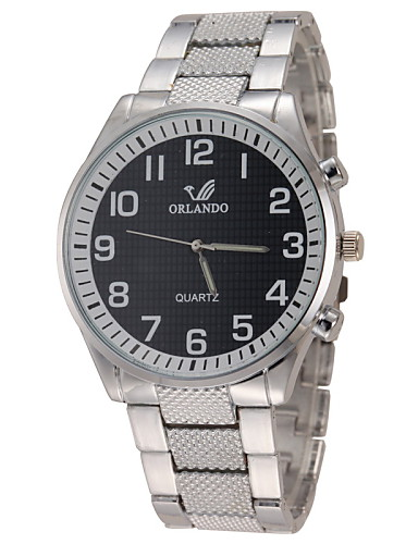 Men's Casual Design Alloy Band Quartz Wristwatch Wrist Watch Cool Watch Unique Watch