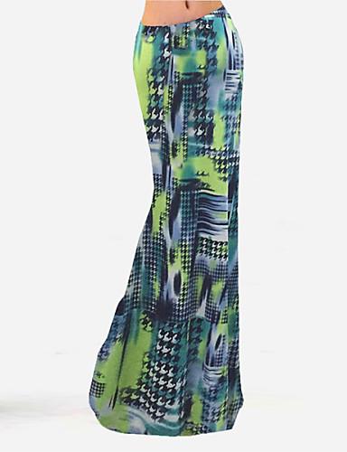 Ležerno / Boho Ženski Suknje - Maxi , Mikroelastično Poliester / Najlon / Spandex