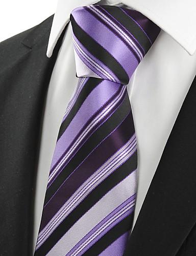 Herre Fest Kontor Grunnleggende Slips Stripet Bomull Rayon Polyester