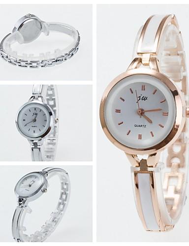 Mulheres Bracele Relógio Relógio de Moda Quartzo Venda imperdível Cerâmica Banda Amuleto Preta Branco Prata Ouro Rose