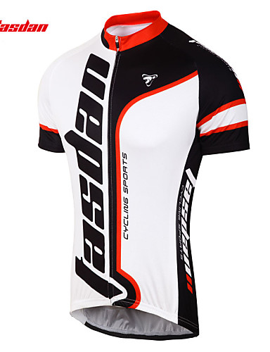 cheap Cycling Clothing-TASDAN Men's Short Sleeve Cycling Jersey Bike Jersey Top Clothing Suit Breathable Quick Dry Sweat-wicking Sports 100% Polyester Mountain Bike MTB Road Bike Cycling Clothing Apparel / Stretchy