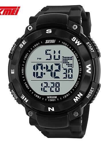 Homens Digital Relogio digital Relógio de Pulso Relógio inteligente Relógio Esportivo Chinês Calendário Cronógrafo Mostrador Grande LCD