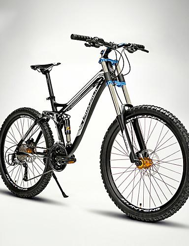 billige Cykling-Mountain Bikes Cykling 27 trin 26 tommer (ca. 66cm) / 700CC SHIMANO M370 Olieskivebremse Springerforgaffel Blød haleramme Normal Aluminiumlegering