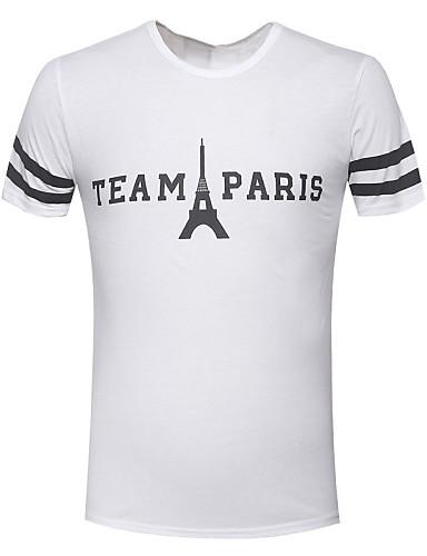Herrn Buchstabe Sport T-shirt Druck Baumwolle