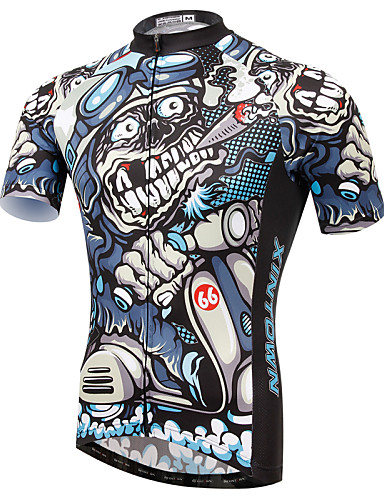 cheap Cycling Clothing-XINTOWN Men's Short Sleeve Cycling Jersey Eagle Bike Jersey Top Breathable Quick Dry Ultraviolet Resistant Sports Elastane Terylene Lycra Mountain Bike MTB Road Bike Cycling Clothing Apparel