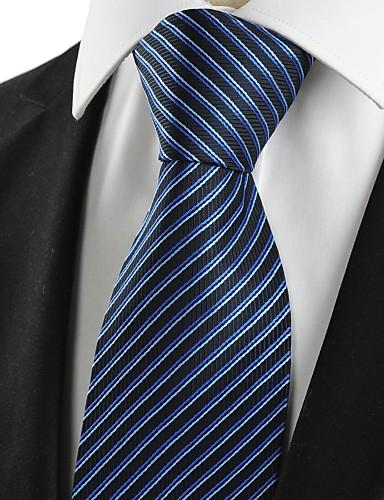 Cravate Vintage / Mignon / Soirée / Travail / Décontracté Coton / Polyester / Rayonne,Homme Rayé Toutes les Saisons
