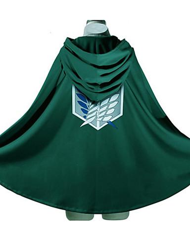 povoljno Anime kostimi-Inspirirana Napad na Titanu Eren Jager / levi ackerman Anime Cosplay nošnje Japanski cosplay Hoodies Print Dugih rukava Plašt Za Muškarci / Žene