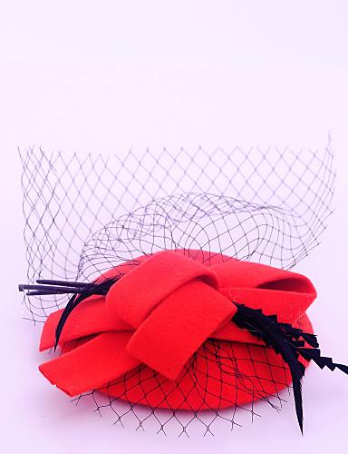 abordables Chapeau & coiffure-Molleton / Plume / Filet Fascinators avec 1 Mariage / Occasion spéciale / Décontracté Casque
