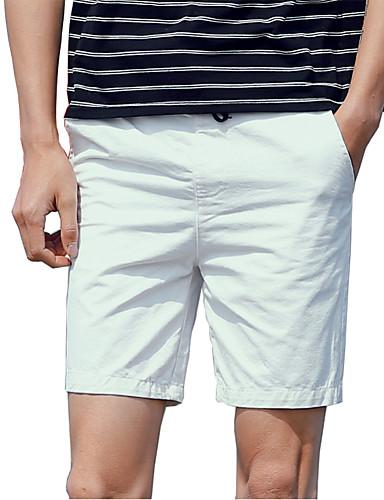 Pánské Jednoduchý Není elastické Kraťasy Kalhoty Rovné Mid Rise Čistá barva Jednobarevné