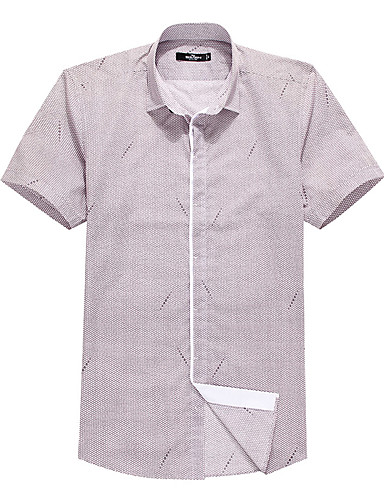 Sieben Brand® Herren Hemdkragen Kurze Ärmel Shirt & Bluse Rot-704A3E2413