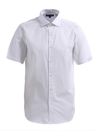 JamesEarl Férfi Állógallér Rövid ujjú Shirt és blúz Ivory - DA182023025