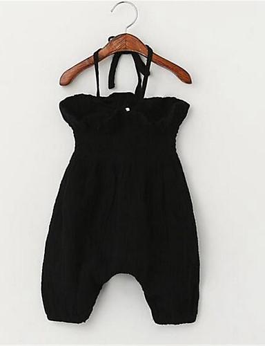 Mädchen Anzug & Overall Lässig/Alltäglich einfarbig Baumwolle Sommer-Ärmellos