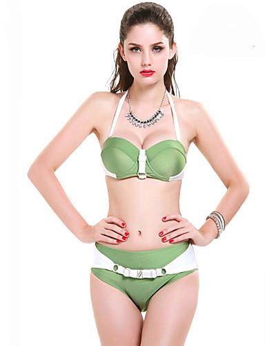 Damen Bikini - Push-Up Nylon / Elasthan Halfter