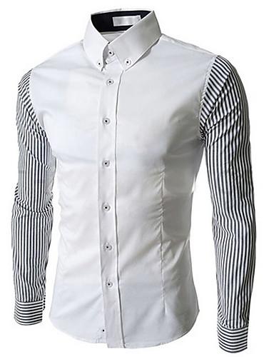 Bomull Skjorte - Stripet Lapper Herre