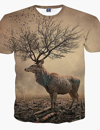 Store størrelser T-skjorte Trykt mønster Sport Herre