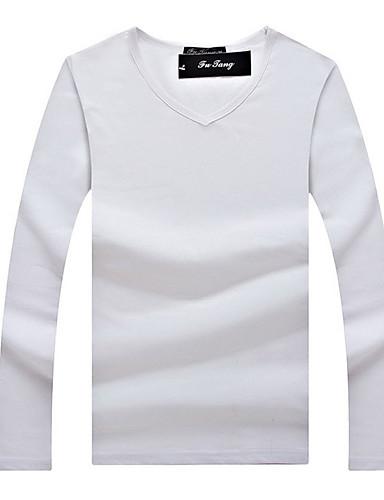 Herren Solide Sport Formal Lässig/Alltäglich Arbeit T-shirt Langarm Baumwolle