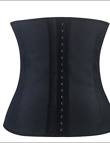 Vrouw Onderbuste korset Nachtkleding-Effen Katoen / Polyester / Spandex Zwart Vrouwen