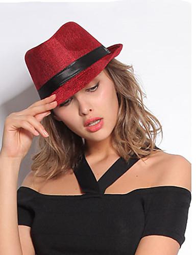 Mujer Sombrero Fedora - Bonito Un Color