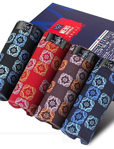 SHINO® Algodão / Fibra de Carbono de Bamboo Boxer Curto 4 / caixa-F016