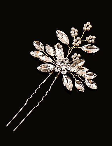 abordables Demoiselles d'Honneur-Laiton / Imitation de perle / Strass Épingle à cheveux avec 1 Mariage Casque