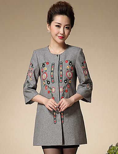 Γυναικεία Παλτό Επίσημα Κινεζικό στυλ Κέντημα 28913bec6e7