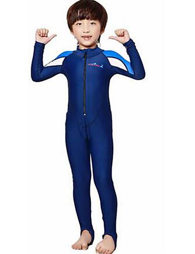 Dive&Sail Para Meninos / Para Meninas Segunda-pele para Mergulho SPF50, Proteção Solar UV, Secagem Rápida Tactel Corpo Inteiro Roupa de Banho Roupa de Praia Roupas de Mergulho Retalhos Zíper Frontal