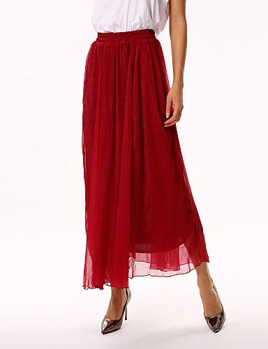 Women's Blue/Red Skirts , Sexy/Beach/Casual/Cute Maxi