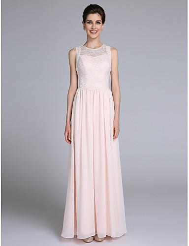מעטפת \ עמוד עם תכשיטים עד הריצפה שיפון שמלה לאם הכלה  - תחרה על ידי LAN TING BRIDE®
