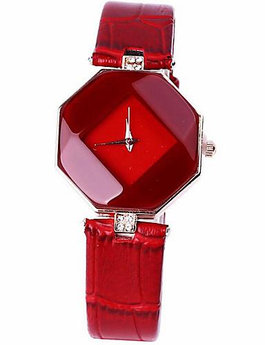 Mulheres Relógio de Moda Quartzo PU Banda Heart Shape Preta Branco Azul Vermelho Roxa