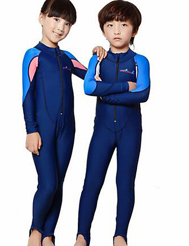 67e608afab Dive&Sail Boys' Girls' Rash Guard Dive Skin Suit 2mm Diving Suit SPF50 UV  Sun Protection Quick Dry Full Body Front Zip - Swimming Diving Surfing  Patchwork / ...