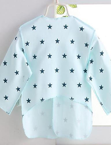 Baby Unisex Fritid/hverdag Bluse Genser og cardigan Trykt mønster Bomull Vår Sommer Halvlange ermer Gul Blå Rosa