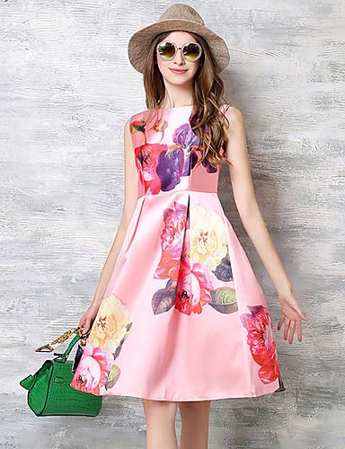 vintage das mulheres maxlindy sair / festa / sofisticado balanço pin up vestido