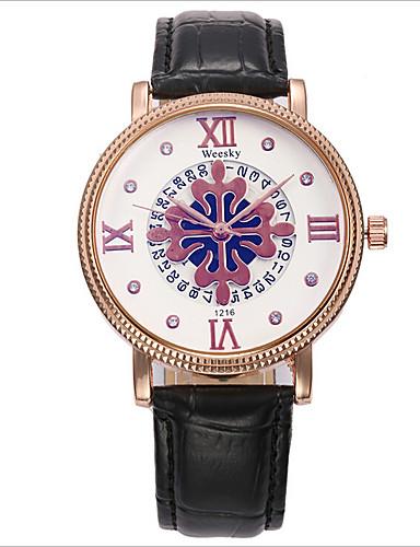Mulheres Relógio de Moda Quartzo Relógio Casual Lega Banda Preta Marrom Branco Bege Azul