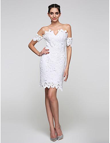 Eng anliegend Knie-Länge Spitze Cocktailparty Abschlussball Ball Kleid mit Spitze durch TS Couture®