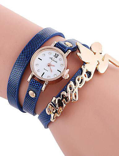 Dames Armbandhorloge / / Cool / Hot Sale PU Band Informeel / Modieus Zwart / Wit / Blauw