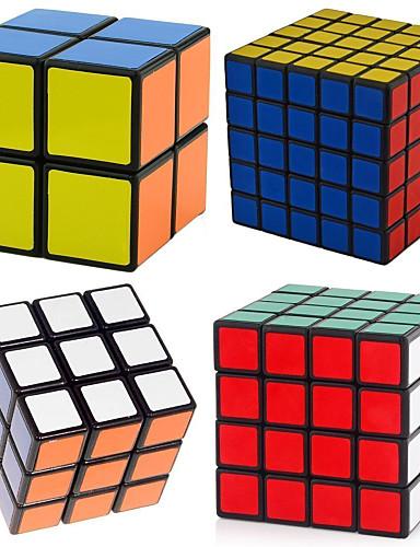 ราคาถูก Toys & Hobbies-4 ชิ้น เมจิกคิวบ์ IQ Cube Shengshou 2*2*2 3*3*3 4*4*4 สมูทความเร็ว Cube Magic Cubes บรรเทาความเครียด ปริศนา Cube ระดับมืออาชีพ Speed มืออาชีพ คลาสสิกและถาวร สำหรับเด็ก ผู้ใหญ่ Toy