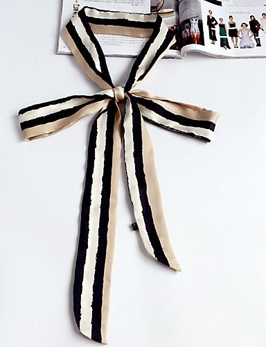 Damer Casual Satin Halstørklæde-Trykt mønster Rektangulær