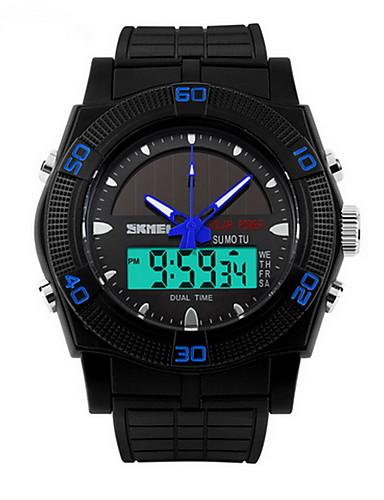 e91dafbadd0bb رجالي ساعة فستان ساعة رقمية طاقة شمسية رقمي مطاط أسود الطاقة الشمسية    تناظري-رقمي كاجوال - أحمر أخضر أزرق