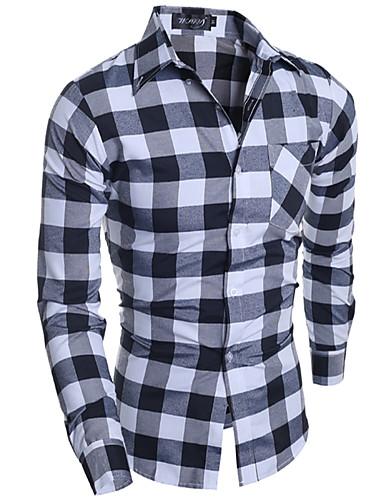 Herrn Verziert Baumwolle Hemd