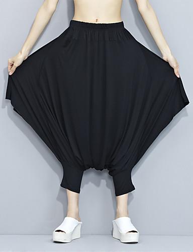 Kvinders Simpel Harem / Chinos Bukser Mikroelastisk Polyester / Nylon