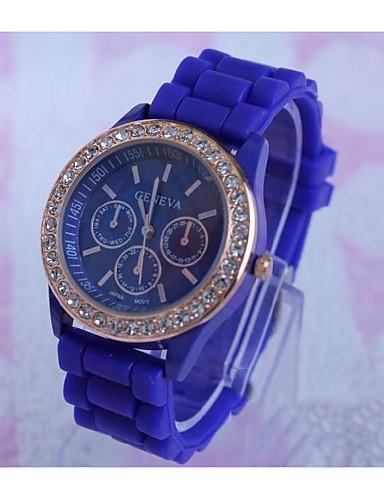 36553cd331c Geneva Homens Relógio de Pulso Quartzo Rosa Folheado a Ouro Silicone Preta    Branco   Azul Venda imperdível   Analógico Casual - Vermelho Verde Azul  Claro