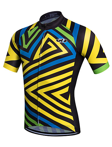 cheap Cycling Clothing-Fastcute Men's Short Sleeve Cycling Jersey Bike Jersey Top Breathable Quick Dry Sweat-wicking Sports Coolmax® Mountain Bike MTB Road Bike Cycling Clothing Apparel / Stretchy
