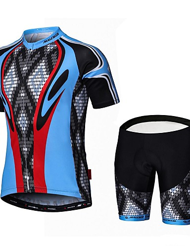 cheap Cycling Clothing-Malciklo Men's Short Sleeve Cycling Jersey with Shorts Bike Clothing Suit Breathable 3D Pad Quick Dry Back Pocket Sports Coolmax® Lycra Snake Mountain Bike MTB Road Bike Cycling Clothing Apparel