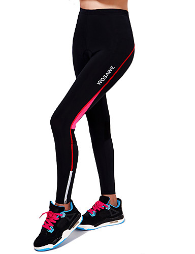 cheap Cycling Clothing-WOSAWE Unisex Cycling Tights Bike Tights Pants Bottoms Breathable 3D Pad Sports Polyester Spandex Black / Red / Green / Black Mountain Bike MTB Road Bike Cycling Clothing Apparel Advanced Relaxed Fit
