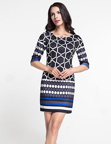 Dame Bodycon Kjole - Geometrisk, Moderne Stil
