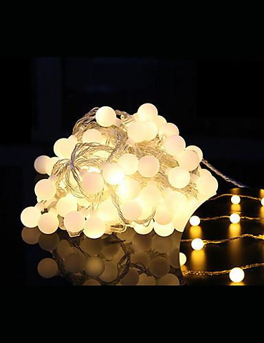 billige Holiday Decoration Light-10 m Lysslynger 100 LED Dip Led Varm hvit Dekorativ / Koblingsbar 220-240 V 1set / IP44