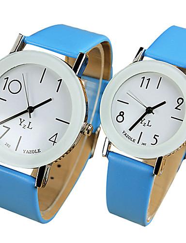YAZOLE Paar Armbanduhr Schlussverkauf / Cool / / PU Band Freizeit Schwarz / Weiß / Blau / Ein Jahr / SSUO 377